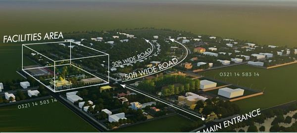Omega Residencia Faisalabad Map