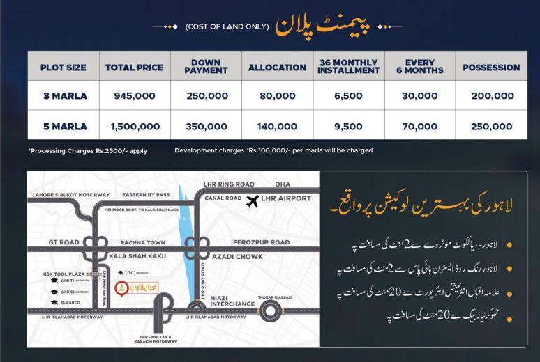 iqbal GArden payment plan 2021